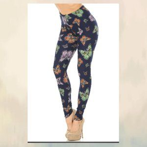 BLUE MOON COLORFUL BUTTERFLY SOFT LEGGINGS